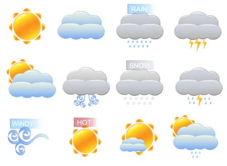 rainy sky: iconos del clima