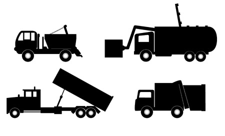 communal: garbage truck vector illustration