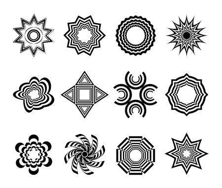 various abstract vector ornaments Vector