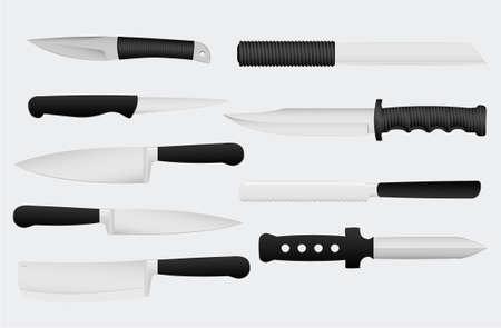 rivet: knives vector illustration, gray background removable