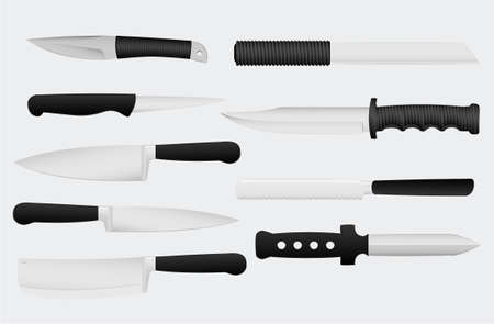 knives vector illustration, gray background removable