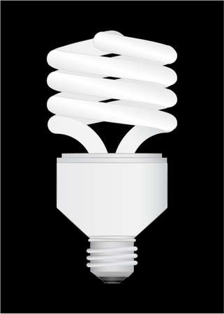 Energy Saving light bulb vector illustration Stock Vector - 6562609
