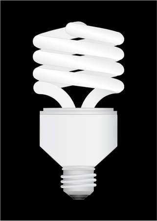 Energy Saving light bulb vector illustration Stock Vector - 6562609