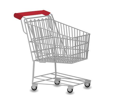 barter: Shopping cart vector illustration
