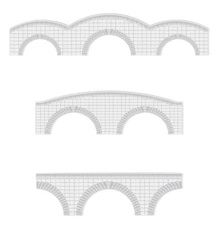 arcos de piedra: puentes de piedras vectoriales ilustración (elementos pueden utilizarse para hacer puentes más grandes) Vectores
