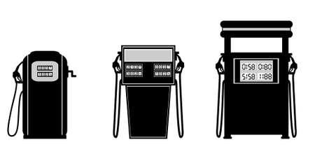 unleaded: gas pump  illustration