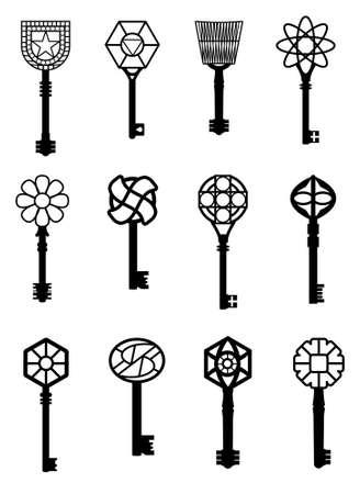 keys illustrations Vector
