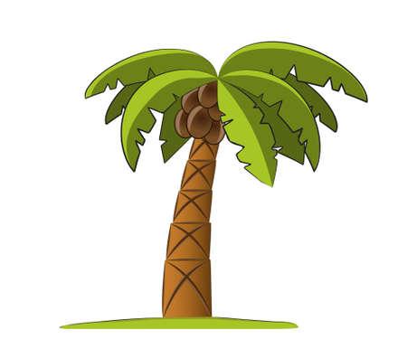 hot tour: Palm tree  illustration