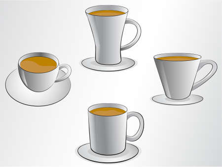 coffee cups illustrations Vector