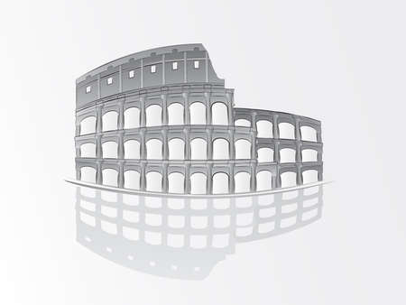 Roman colosseum illustration Vector