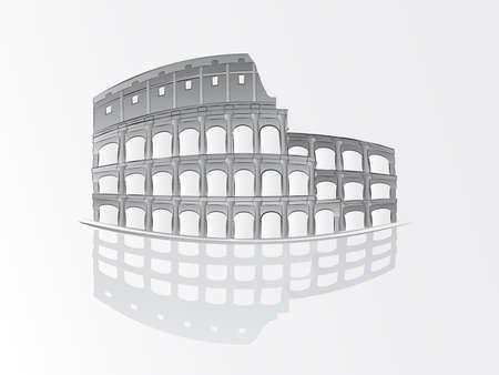 colloseum:  Roman colosseum illustration