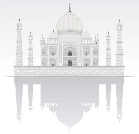 taj mahal illustration Vector