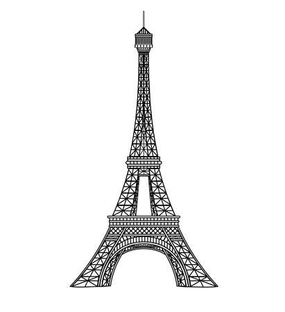 eiffel tower: Ilustraci�n de Torre Eiffel  Vectores