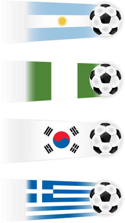 Soccer World Cup Group B clipart (other groups available also) Vector