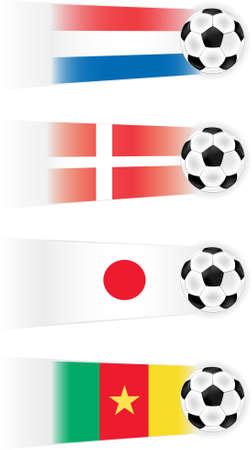 Grupo de la Copa Mundial de fútbol E imágenes prediseñadas (otros grupos disponibles también)  Foto de archivo - 7068436