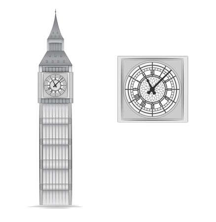 Big Ben vector illustration Stock Vector - 8381732