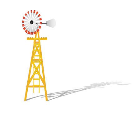 Windmill vector illustration Stock Vector - 8381730