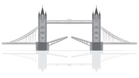 london tower bridge: Bridge illustration Illustration