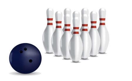 quilles: Boule de bowling et skittles