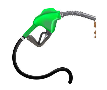 fossil fuel: Gasoline nozzle vector illustration  Illustration