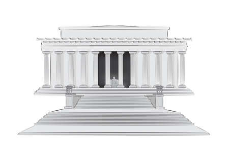 lincoln: Lincoln Memorial vector illustration