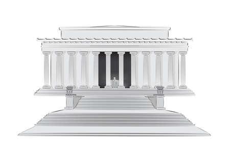 regierung: Lincoln Memorial-Vektor-illustration