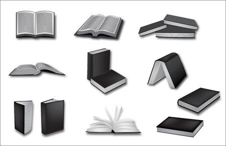 biography: book vector illustrations