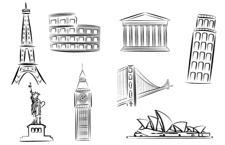 sydney: landmarks vector illustrations Illustration