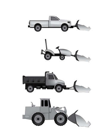 snow plow icons Vector