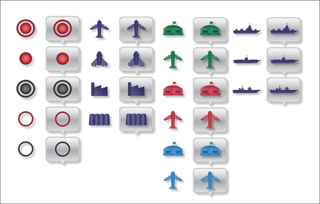airforce: military map icons Illustration