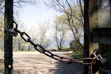 catena: hinged locks Stock Photo