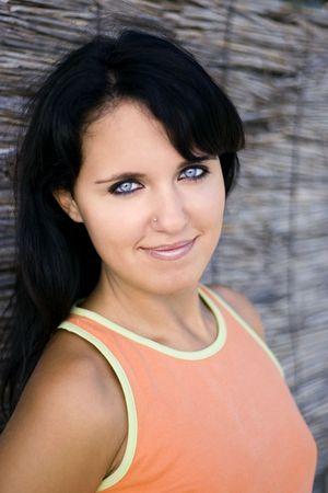 Beautiful woman. Brunet.