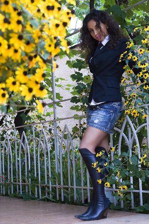 armenian woman: Karine - armenian beautiful woman Stock Photo