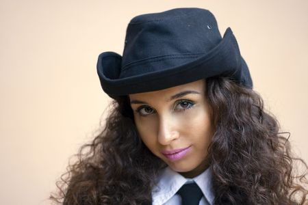Karine - armenian beautiful woman Stock Photo