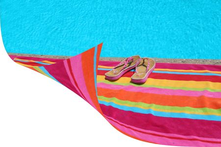 white space by beach towel