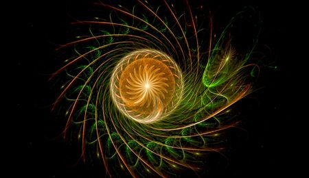 a spherical abstract design photo