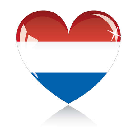 heart with Netherland flag texture isolated on a white background. Stock Vector - 6245779