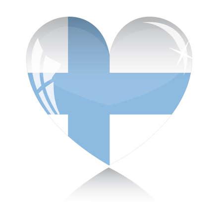 heart with Finland flag texture isolated on a white background. Stock Vector - 6245782