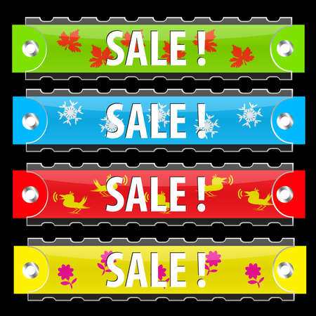 Glossy sale tag buttons. Illustration