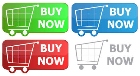 Button grocery cart with the signature buy now Stock Vector - 6485411