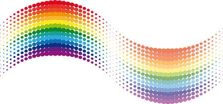 Halftone rainbow wave. Illustration