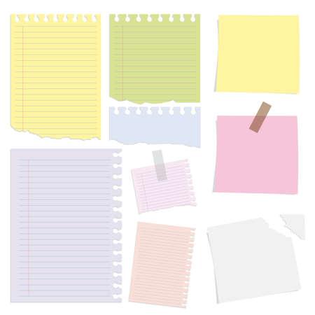Big collection of paper message set Illustration