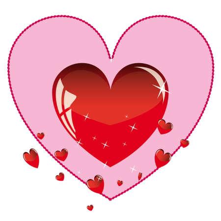Red Valentine glossy heart