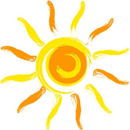 graphic illustration: yellow sun.