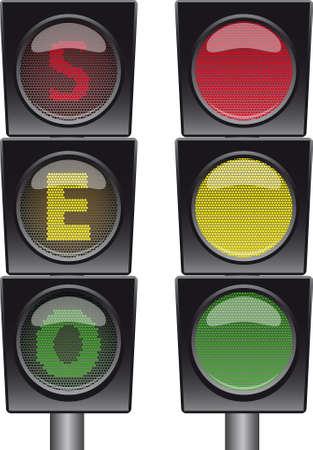 stoplight: SEO stoplight. Illustration