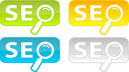 Web buttons with SEO text.