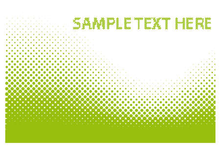 Sample Text Here - Abstract dots background. Halftone. Illustration