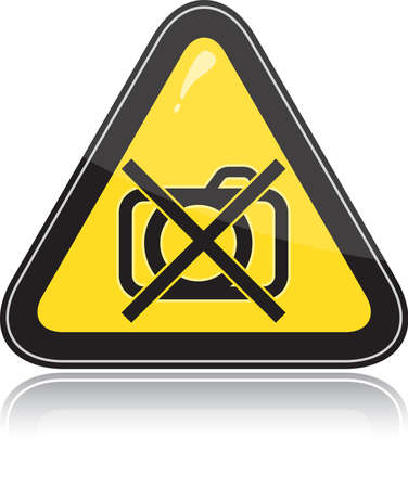 Yellow triangular other warning sign on white background