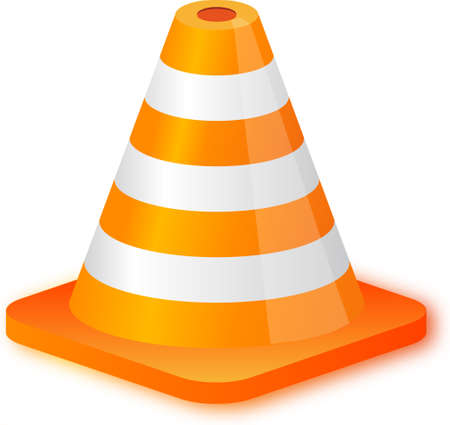 Traffic Cone on white background. illustration. EPS10 Vector