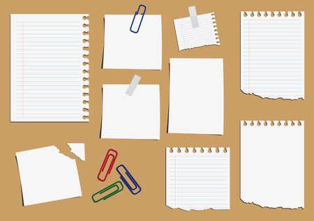 Big collection of paper message set. illustration. Illustration